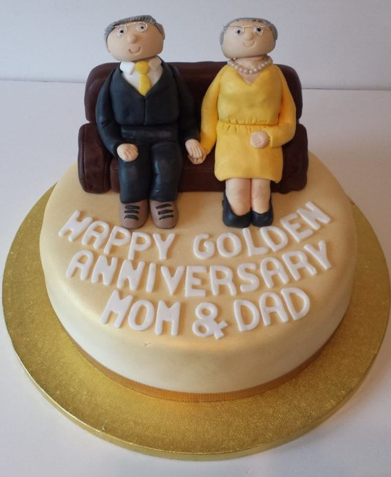 Golden Wedding Anniversary Cake Quality Cake Company