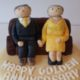 Golden Wedding couple topper - Quality Cake Company Tamworth