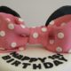 minni mouse tiered birthday cake pink bow - Quality Cake Company Tamworth