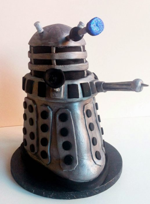 Dalek Doctor Who inspired sculpted birthday cake