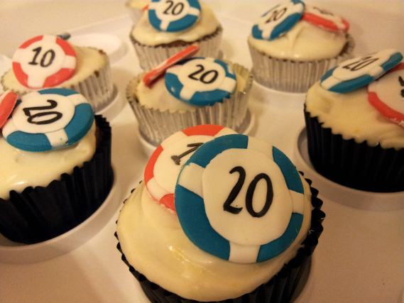 Las Vegas poker chips cupcakes - Quality Cake Company Tamworth