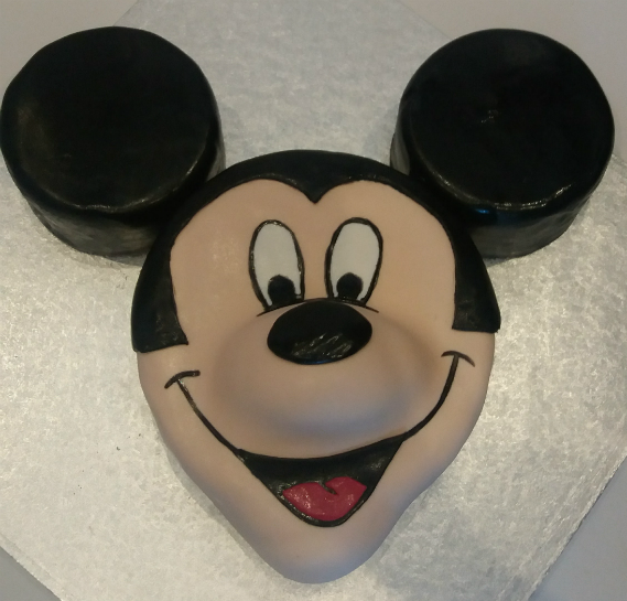Mickey Mouse sculpted childrens birthday cake - Quality Cake Company Tamworth