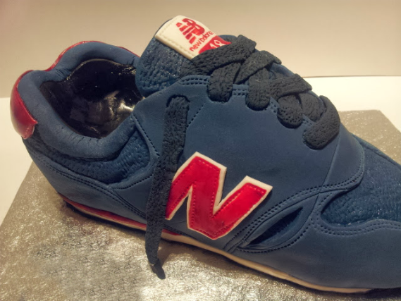 New Balance Trainer Cake sculpted novelty cake - - Quality Cake Company Tamworth
