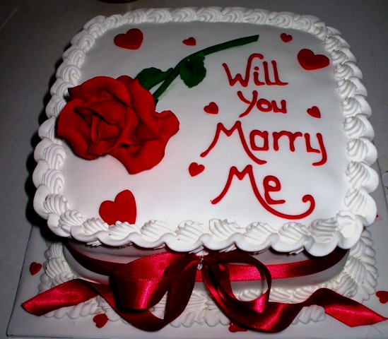 Red rose proposal cake - Quality Cake Company Tamworth