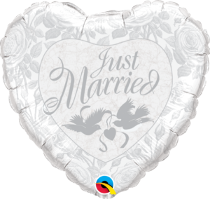 just married balloon