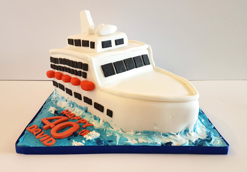 Cruise Ship Sculpted Cake