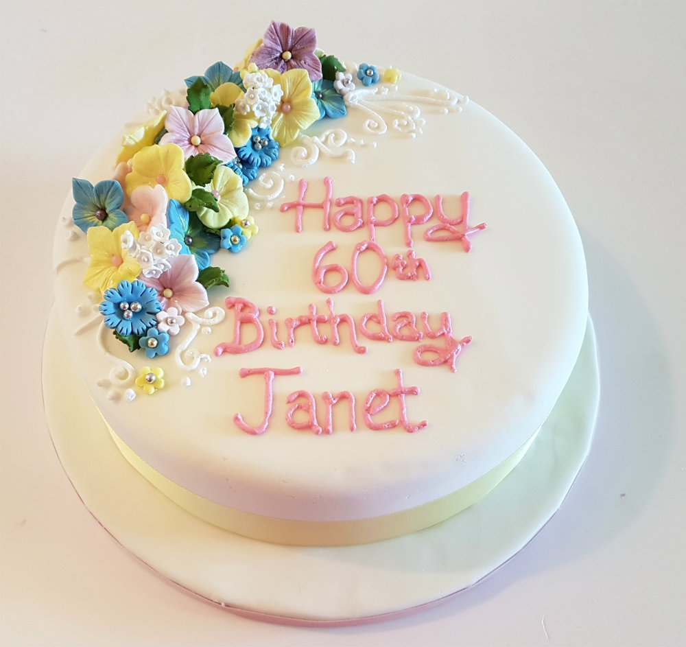 Pastel Flower Birthday Cake