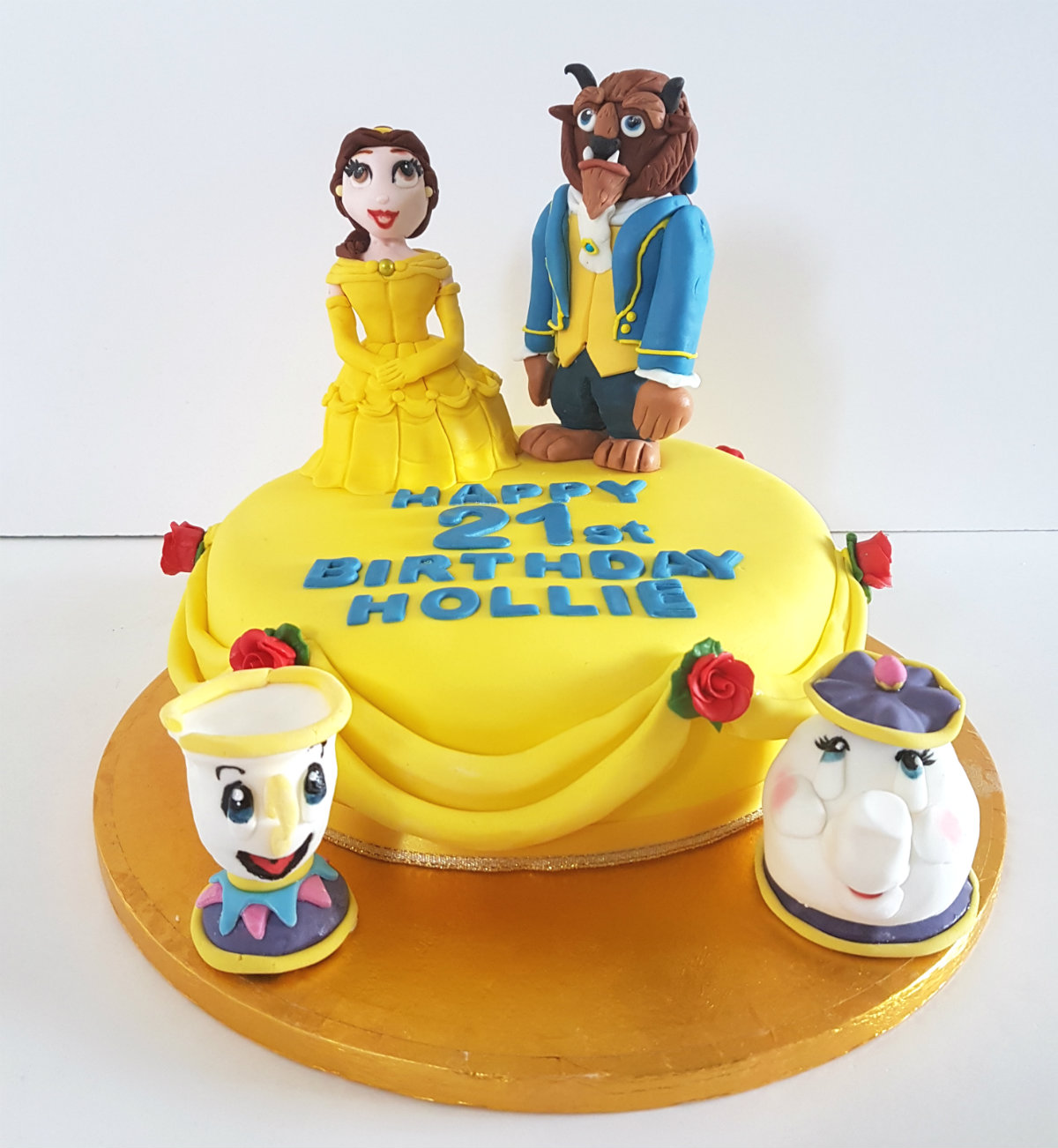 Beauty & the Beast birthday cake