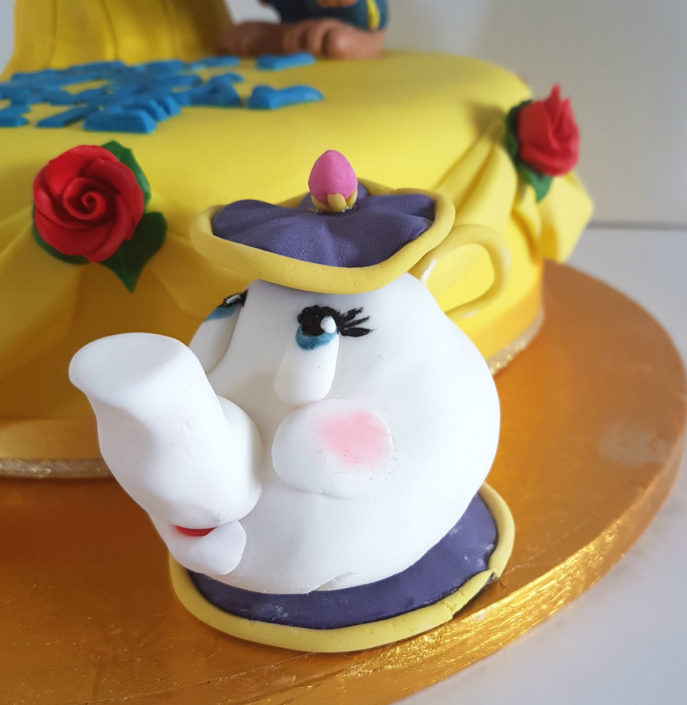 Beauty & the Beast birthday cake - mrs potts