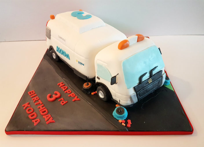 Street cleaner birthday cake
