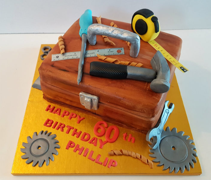 Toolbox birthday cake
