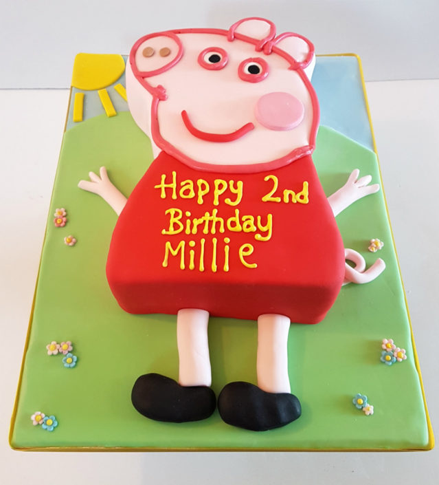 3D Peppa Pig Novelty Childrens Birthday Cake