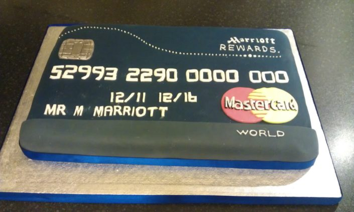 Corporate cakes - mastercard logo credit card