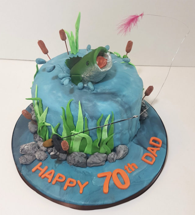 Fly Fishing birthday cake