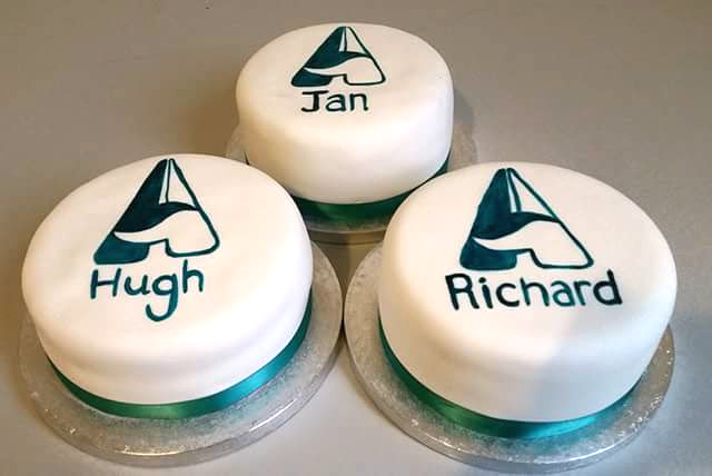 Corporate cakes hand painted designs - Tamworth West Midlands