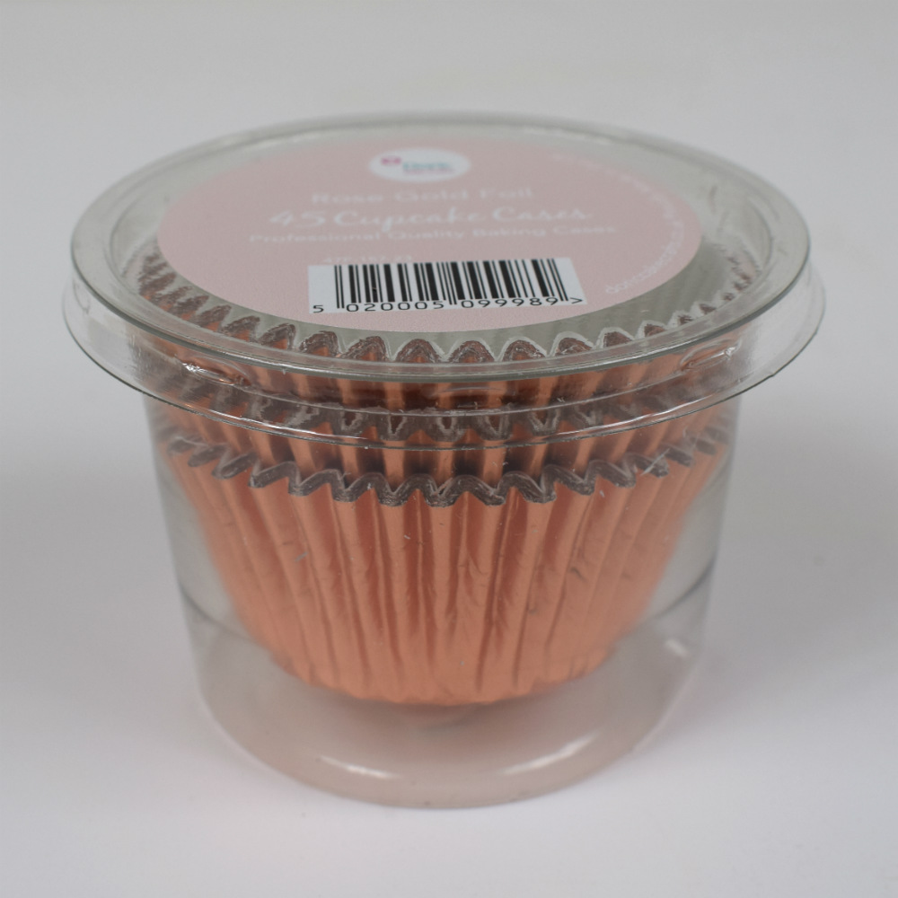 Rose gold metallic cupcake cases Tamworth Sutton Coldfield