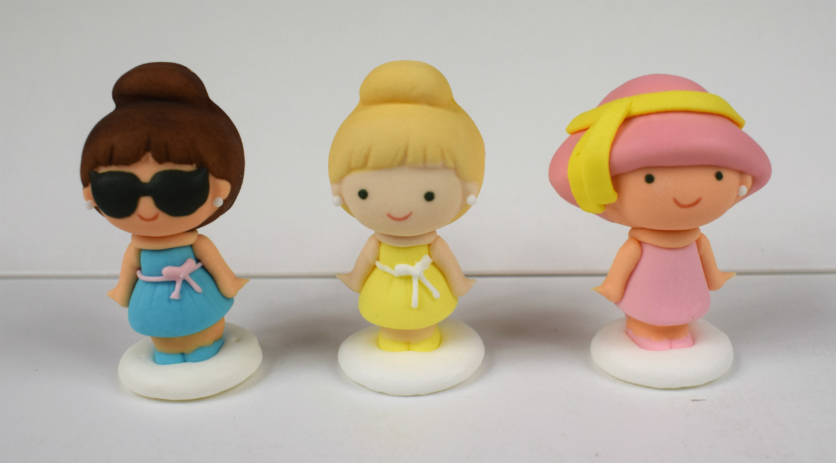 Sugar icing girls ladies cake toppers tamworth