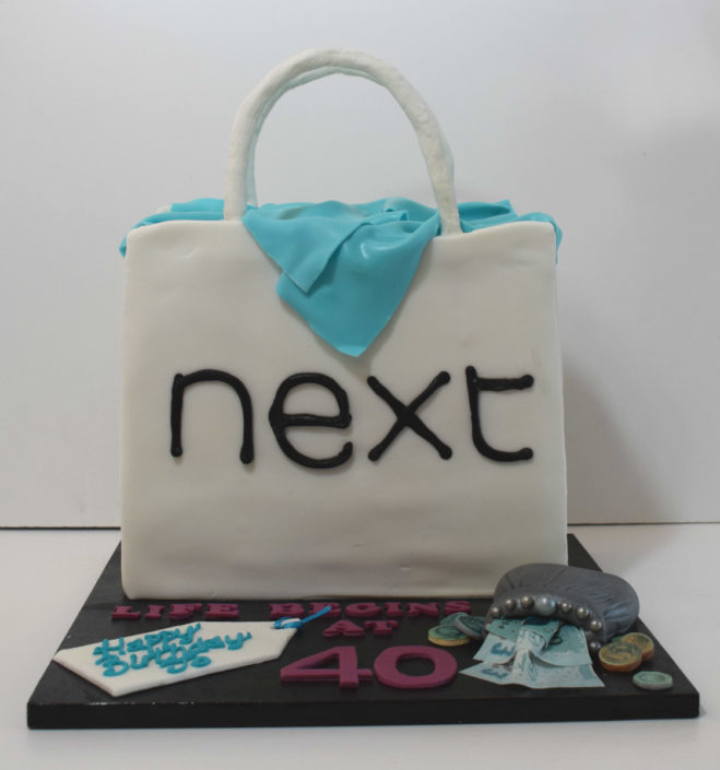 Next shopping back cake design