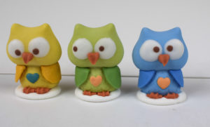 Sugar icing owl cake toppers tamworth