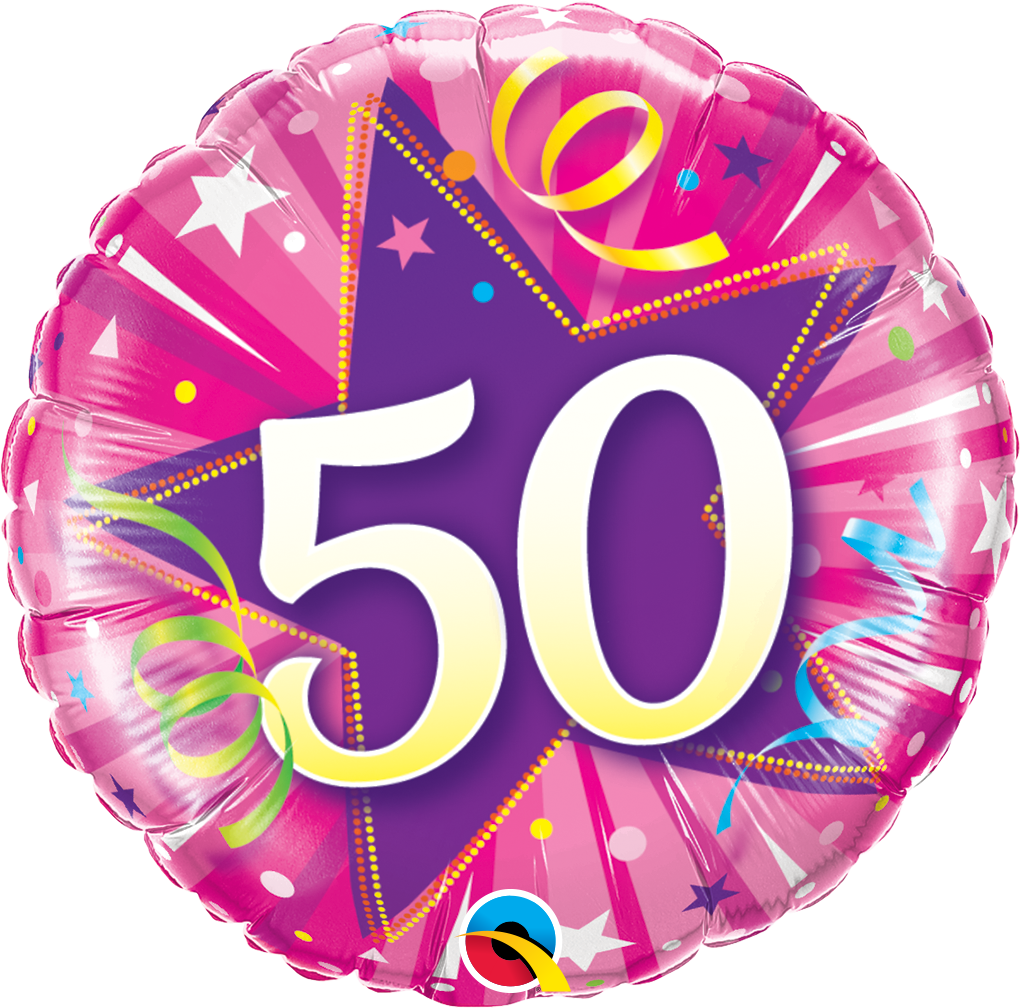 50th birthday balloons from Quality Cake Company, Tamworth