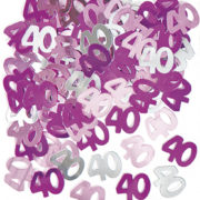 40th birthday party confetti table decorations Tamworth