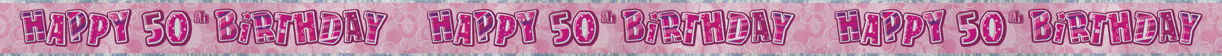 50th birthday party banner decorations Tamworth