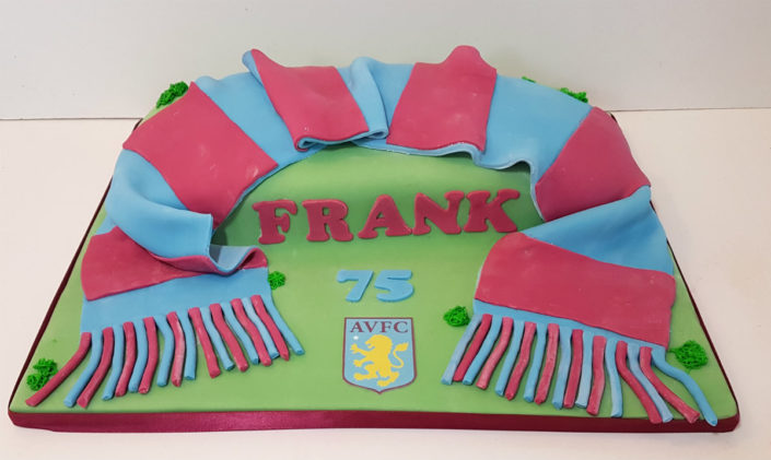 Aston villa AVFC scarf birthday cake tamworth