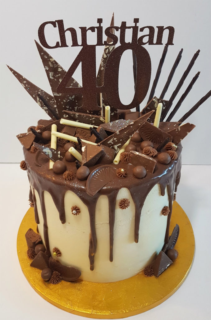 Tall Chocolate Sweetie Drip Cake