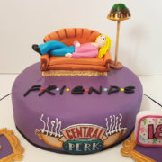 FRIENDS lying on sofa theme birthday cake tamworth