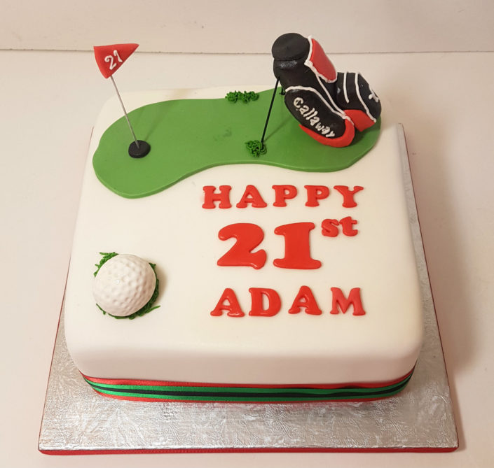 Golf bag birthday cake tamworth