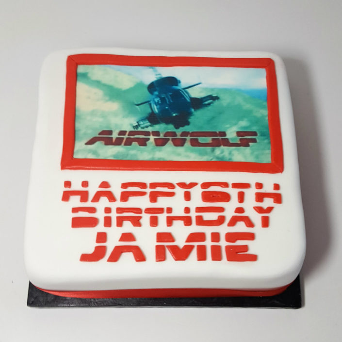 Airwolf photo cake
