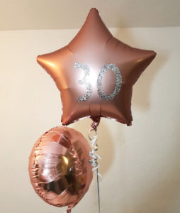rose gold balloons personalised tamworth