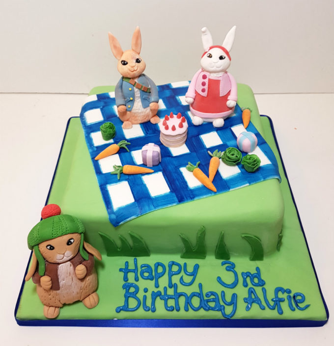 peter rabbit picnic theme birthday cake tamworth