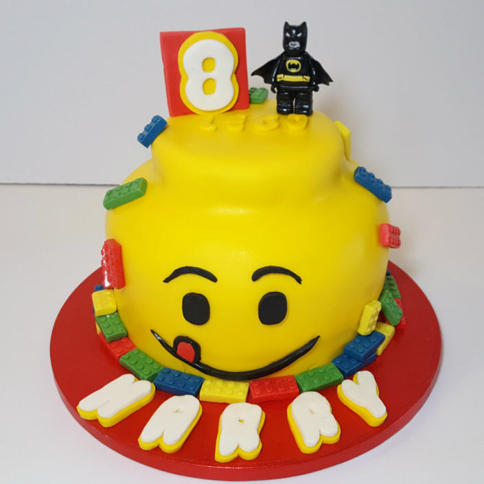 lego head birthday cake tamworth