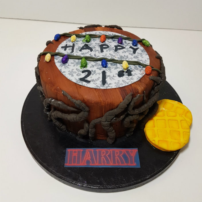 Stranger Things themed birthday cake tamworth