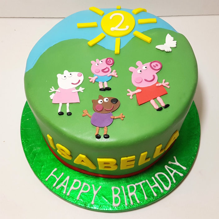 Peppa pig & pals children's birthday cake - Tamworth