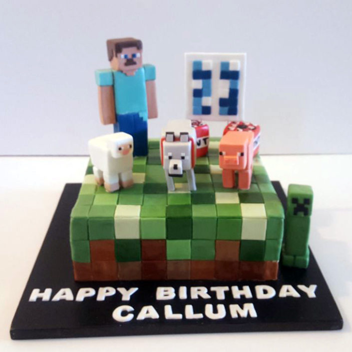 Minecraft cake Tamworth