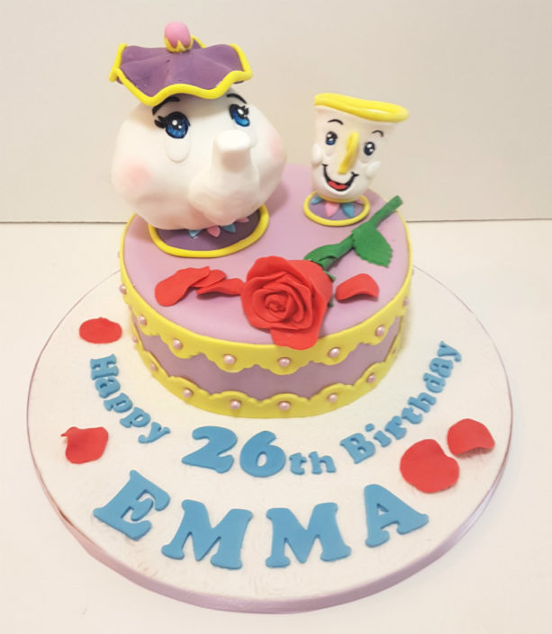 mrs potts & chips from beauty and the beast birthday cake toppers - tamworth