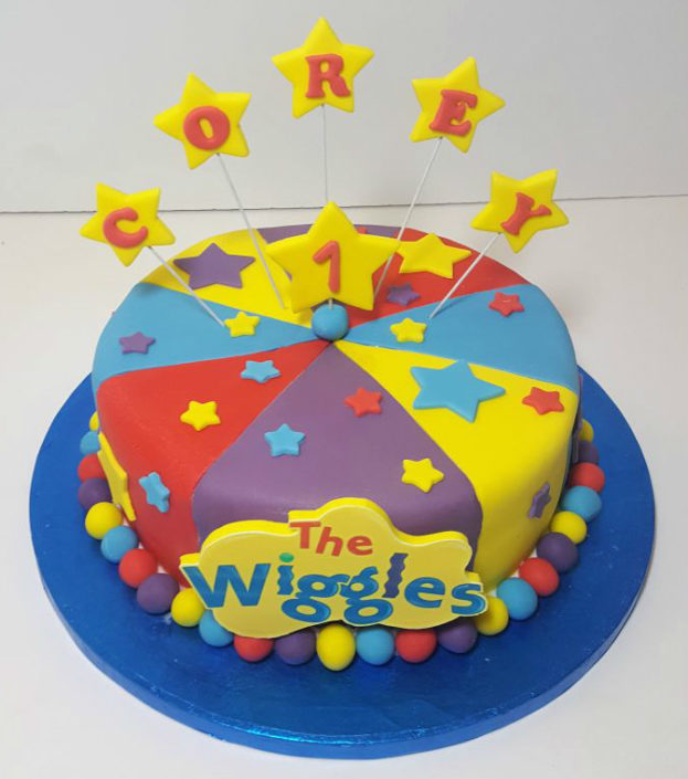 Wiggles colourful children's birthday cake - Tamworth