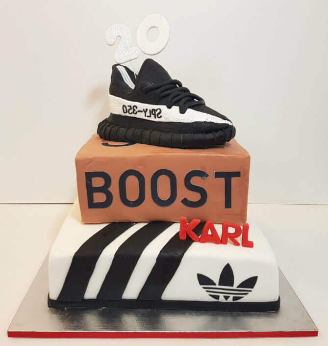 adidas trainers birthday cake - tamworth