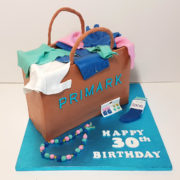 Brown Primark bag birthday cake - Tamworth