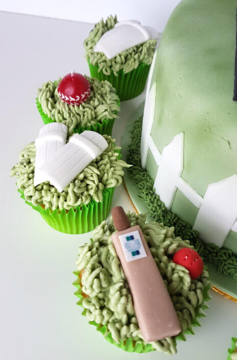 Cricket themed cupcakes - tamworth