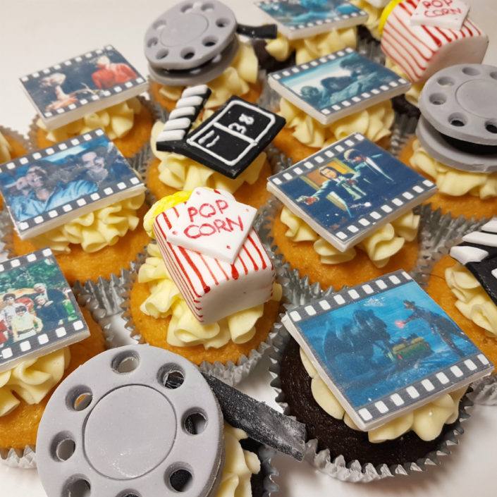 Cinema / movie theme cupcakes - tamworth