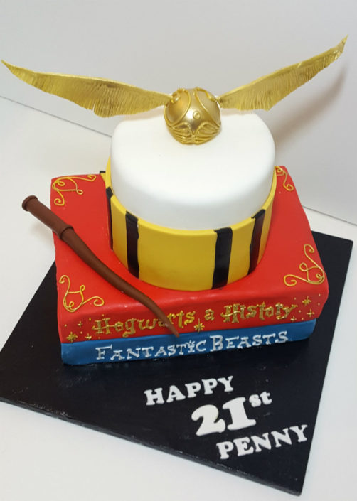Harry potter books stacked cake - tamworth