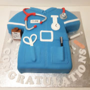 New job for a nurse celebration cake - tamworth