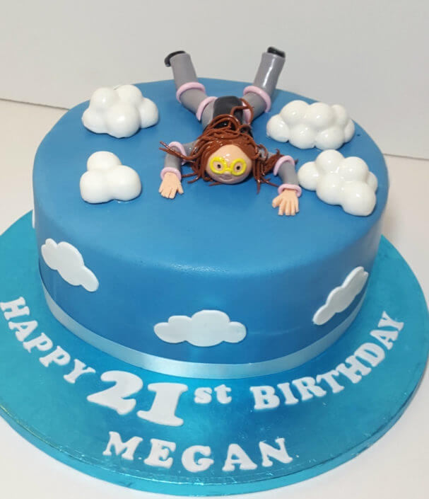 Sky diving birthday cake - tamworth