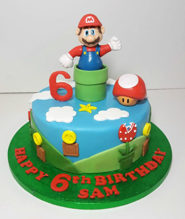 Super Mario birthday cake - Tamworth
