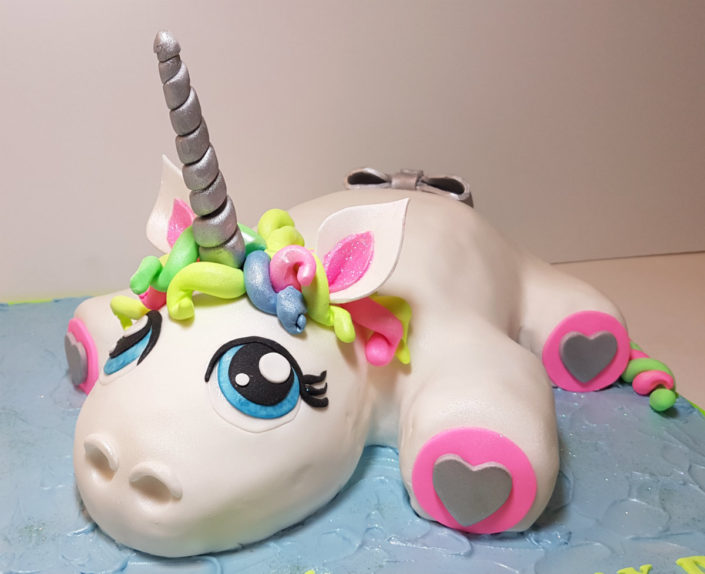 Neon unicorn cake Tamworth