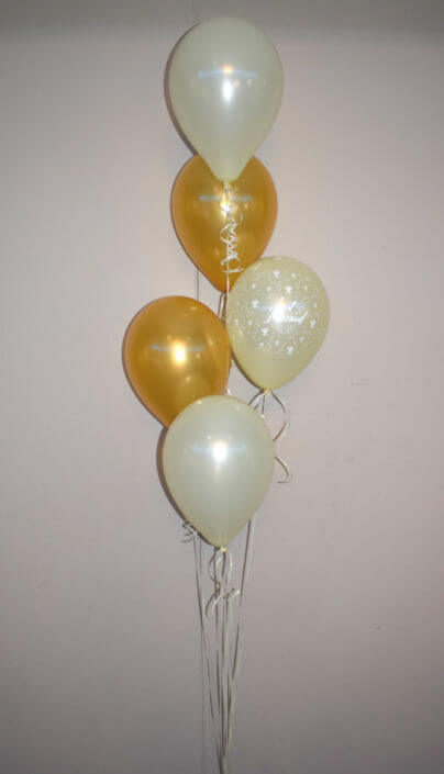 Wedding gold & cream balloon sprays - Tamworth