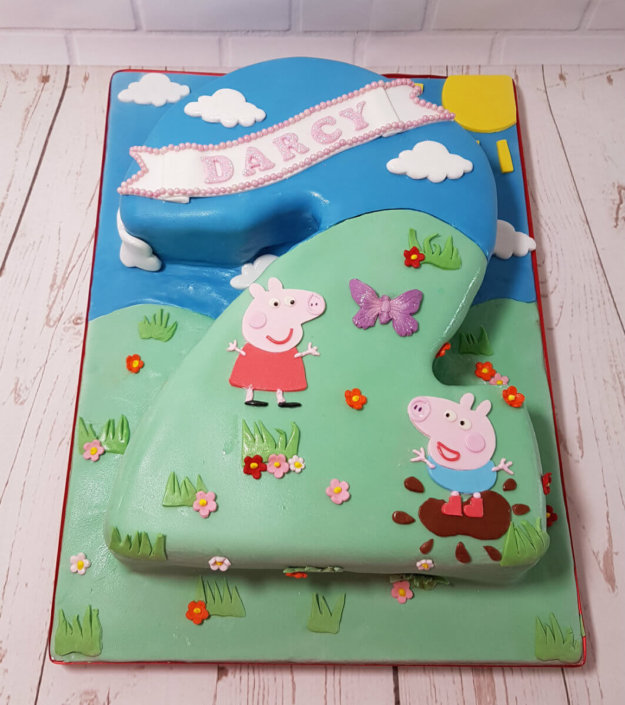 Peppa pig scene 2nd birthday cake - Tamworth